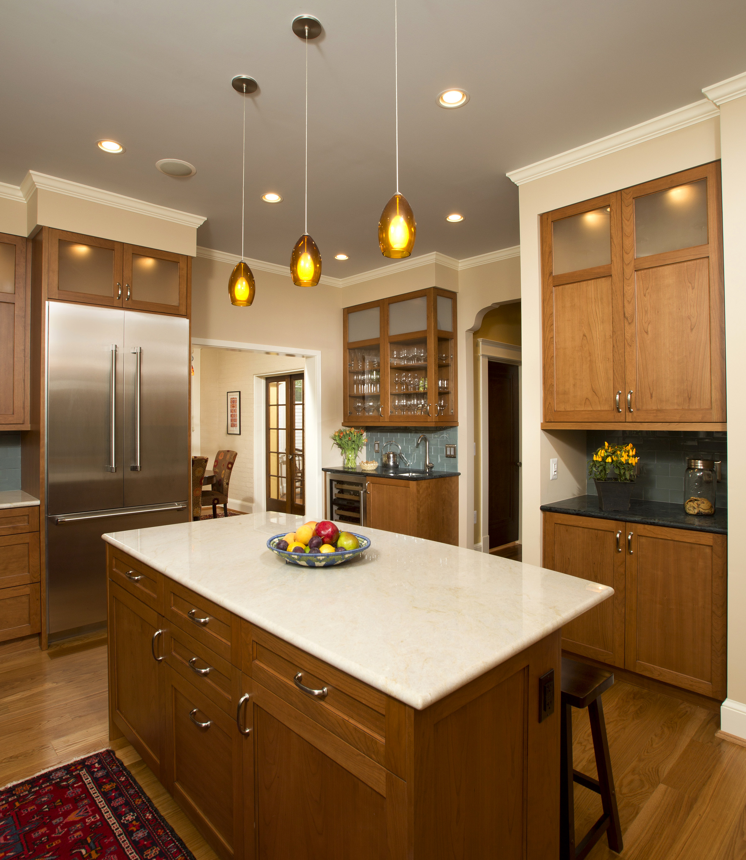 Mixing Stones in Kitchen