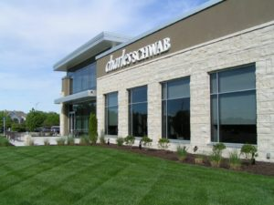 Charles Schwab, featuring Cottonwood Kansas limestone. Photo courtesy of U.S. Stone Industries.