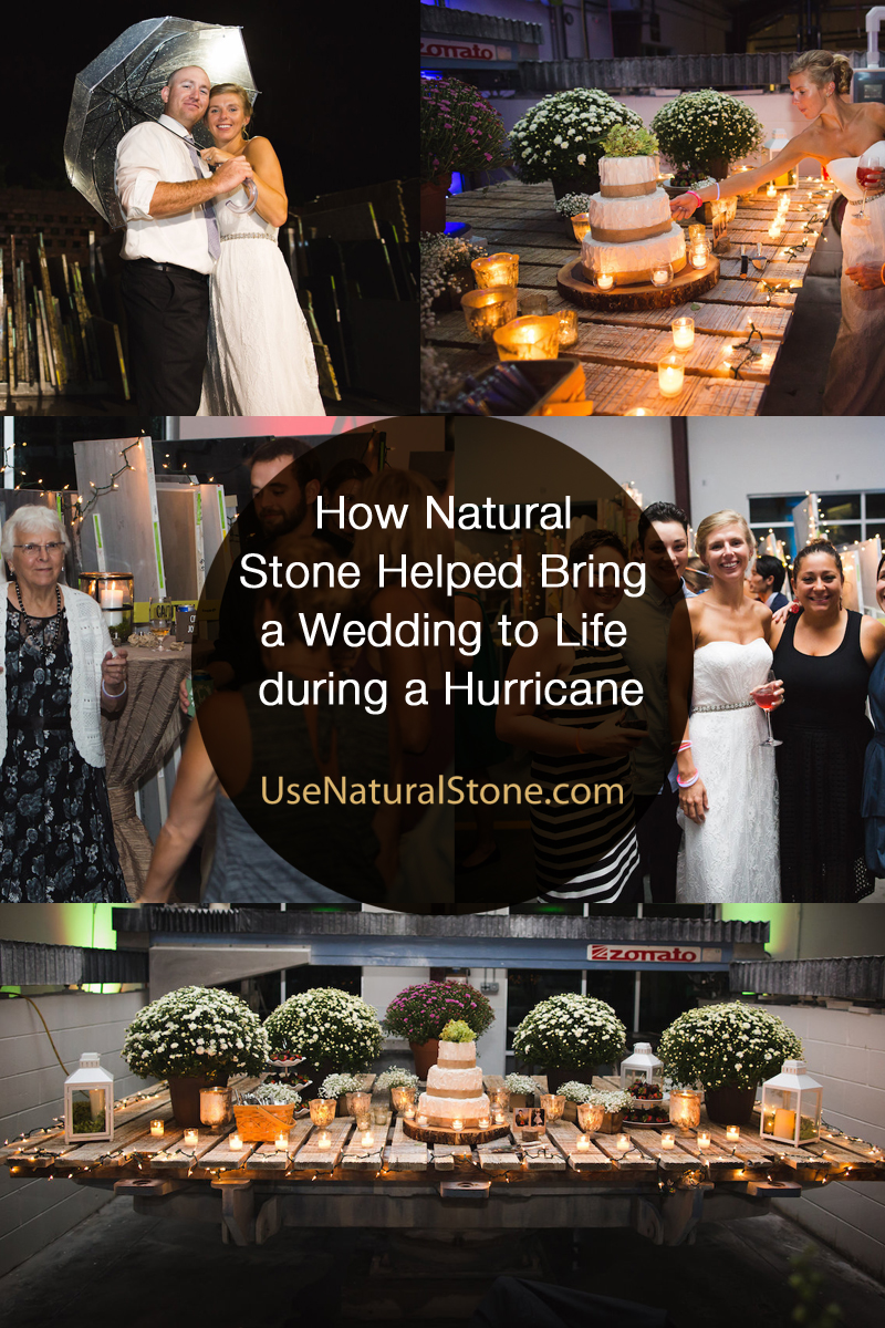 How Natural Stone Helped Bring a Wedding to Life during a Hurricane