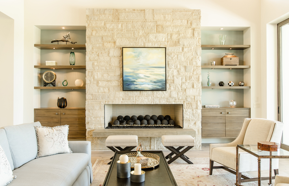 Remodeling your old fireplace with natural thin stone veneers or full bodied natural stones provides an updated