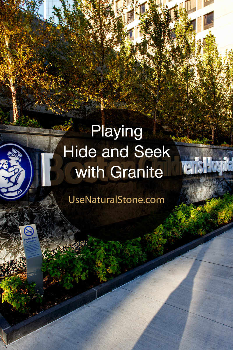 Playing Hide and Seek with Granite