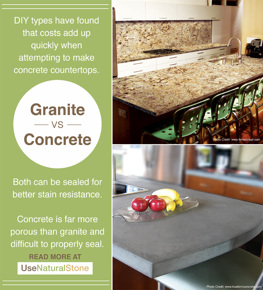 Granite Vs Concrete Countertops What Is The Difference