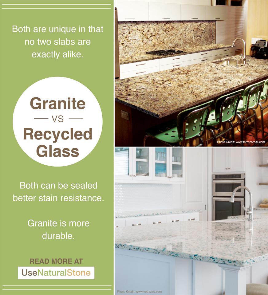 Granite vs. Recycled Glass