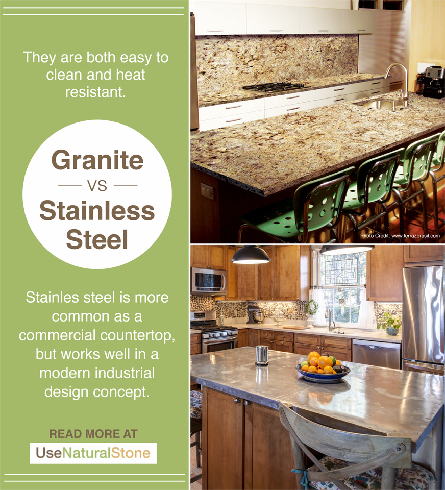 Granite Vs Stainless Steel Countertops What Is The