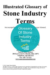 glossary of stone terms