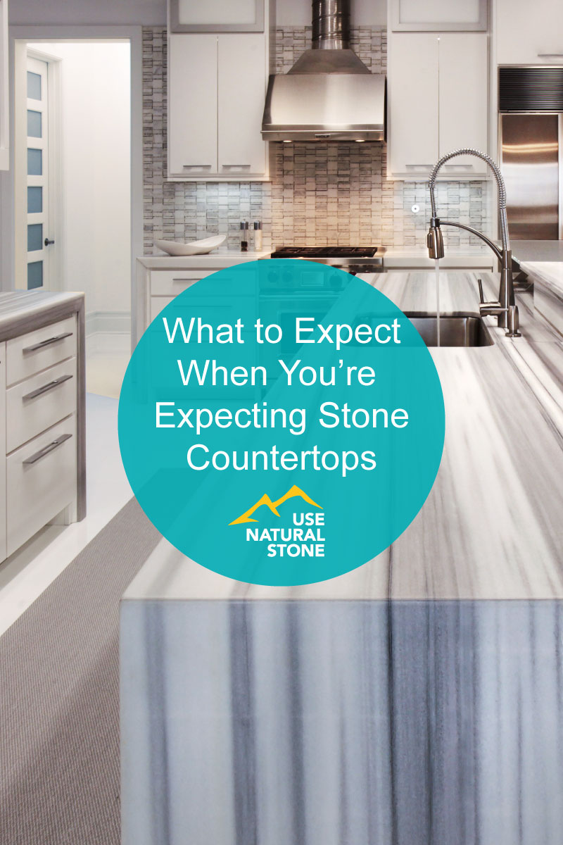 what to expect when you're expecting stone countertops - use