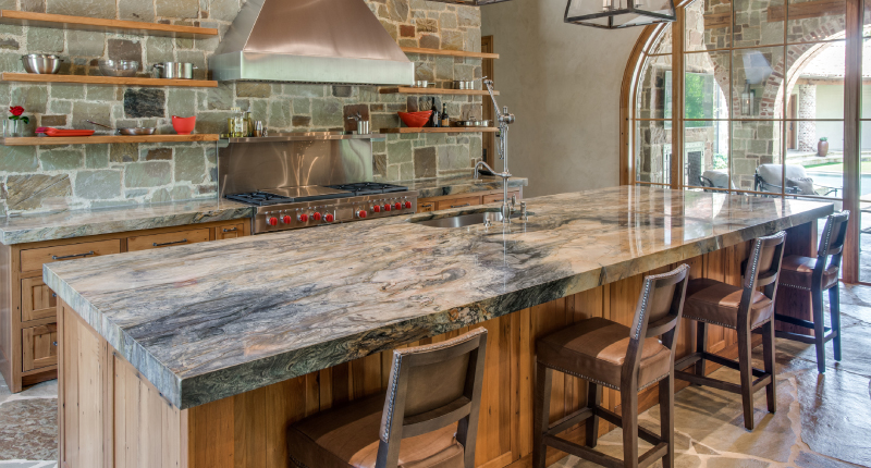 Create an Earthy Kitchen with Natural Stone and Real Wood