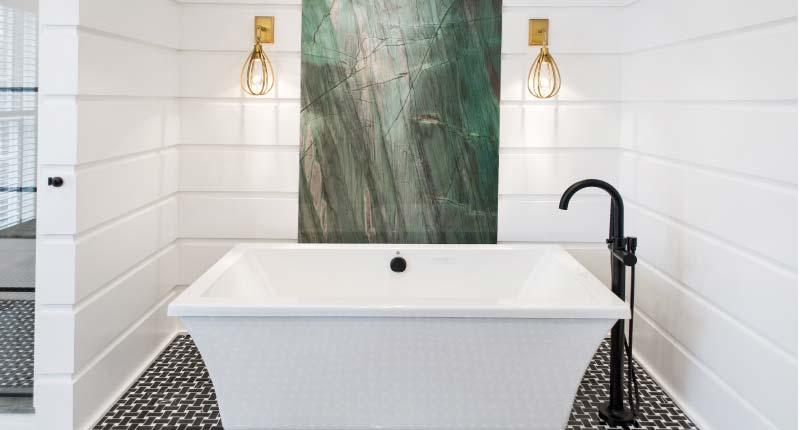 Bold Bathrooms Using Natural Stone