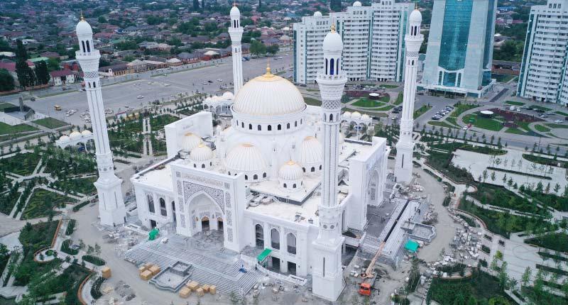Using Thassos White Marble to Create a Grand European Mosque